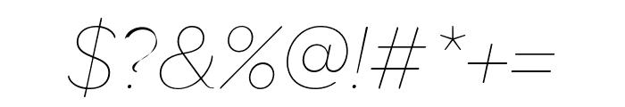 OmnesCyrillic Thin Italic Font OTHER CHARS