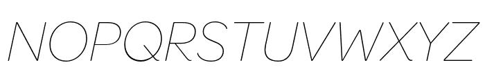 OmnesCyrillic Thin Italic Font UPPERCASE