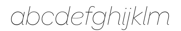 OmnesCyrillic Thin Italic Font LOWERCASE