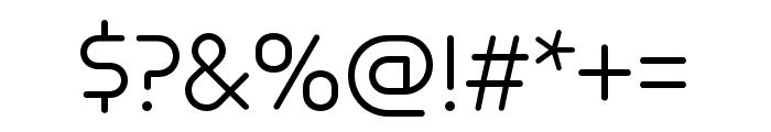 Omnium Light Font OTHER CHARS