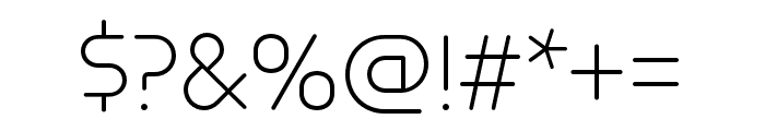Omnium Thin Font OTHER CHARS