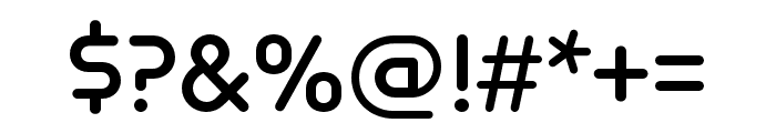 Omnium Wide SemiBold Font OTHER CHARS
