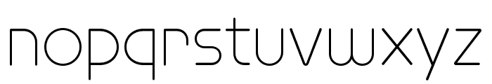 Omnium Wide Thin Font LOWERCASE