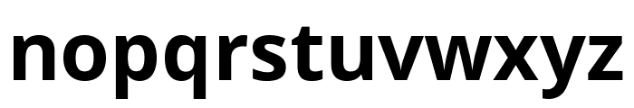 Open Sans Condensed Bold Font LOWERCASE