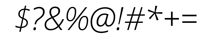 Open Sans Condensed Light Italic Font OTHER CHARS