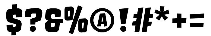 Orgovan Brush Font OTHER CHARS