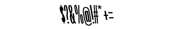 Origin Super Condensed Bold Backslant Font OTHER CHARS