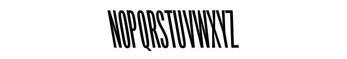 Origin Super Condensed Bold Backslant Font UPPERCASE