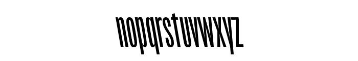 Origin Super Condensed Bold Backslant Font LOWERCASE