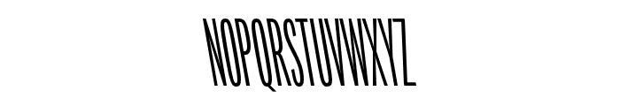 Origin Super Condensed Regular Backslant Font UPPERCASE