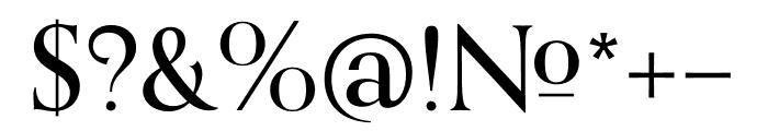 Orpheus Pro Medium Font OTHER CHARS
