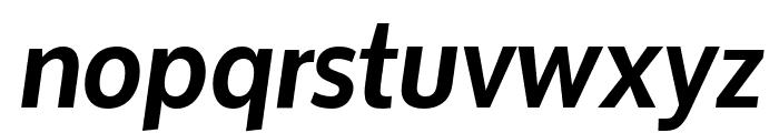 Oxygen Bold Italic Font LOWERCASE