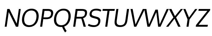 Oxygen Italic Font UPPERCASE