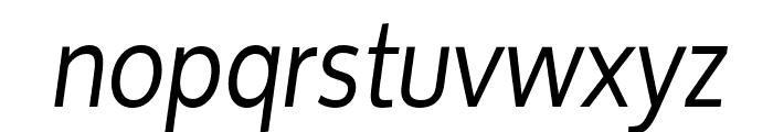 Oxygen Italic Font LOWERCASE