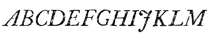 P22 Franklin Caslon Italic Font UPPERCASE
