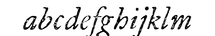 P22 Franklin Caslon Italic Font LOWERCASE