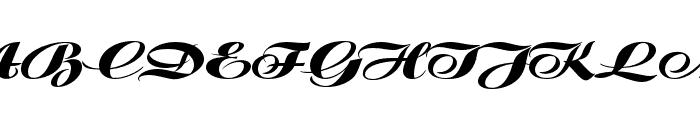 P22 Klauss Kursiv Regular Font UPPERCASE