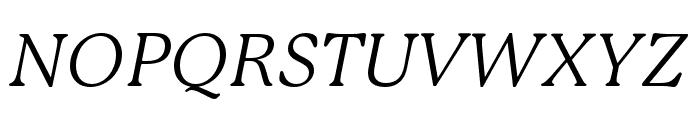 P22 Mackinac Pro Book Italic Font UPPERCASE