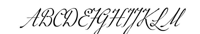 P22 Marcel Script Pro Font UPPERCASE