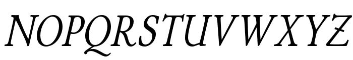 P22 Stickley Pro Headline Italic Font UPPERCASE