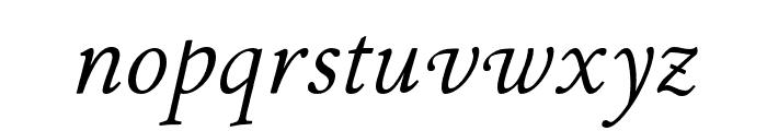 P22 Stickley Pro Headline Italic Font LOWERCASE