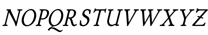 P22 Stickley Pro Text Italic Font UPPERCASE