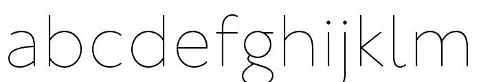 P22 Underground Thin Font LOWERCASE