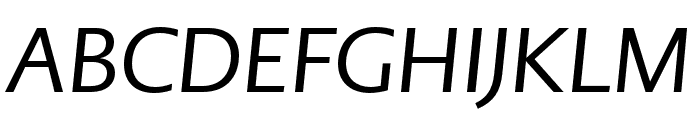 PMNCaeciliaSans Head Italic Font UPPERCASE