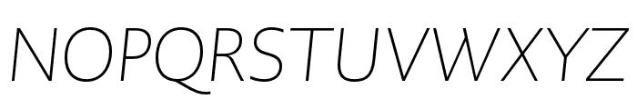 PMNCaeciliaSans Head XLt Obl Font UPPERCASE