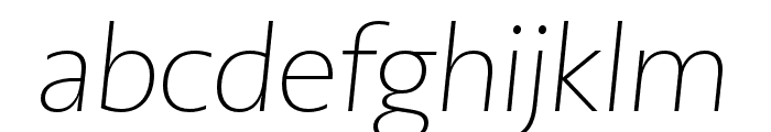 PMNCaeciliaSans Head XLt Obl Font LOWERCASE