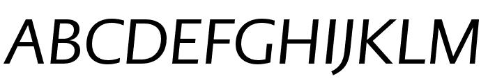 PMNCaeciliaSans Text Italic Font UPPERCASE