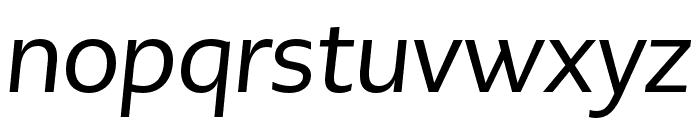 PMNCaeciliaSans Text Italic Font LOWERCASE