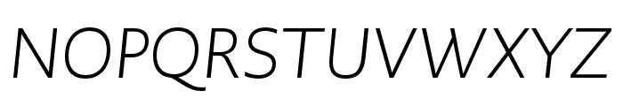 PMNCaeciliaSans Text Lt Italic Font UPPERCASE