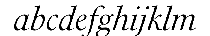PSFournier Std Light Italic Font LOWERCASE