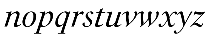 PSFournier Std Petit Italic Font LOWERCASE