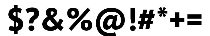 PT Sans Pro Narrow Extra Bold Font OTHER CHARS