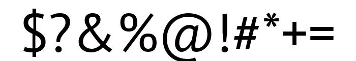 PT Sans Regular Font OTHER CHARS