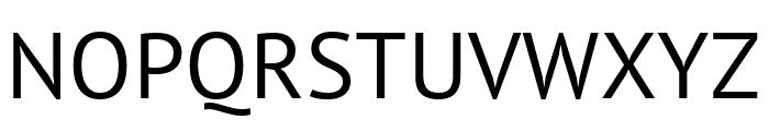 PT Sans Regular Font UPPERCASE