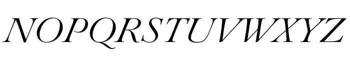 Paganini Light Italic Font UPPERCASE