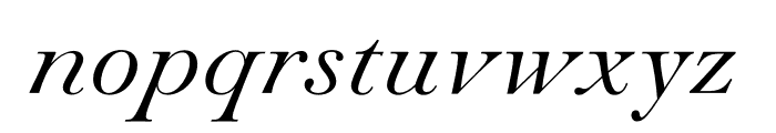 Paganini Light Italic Font LOWERCASE