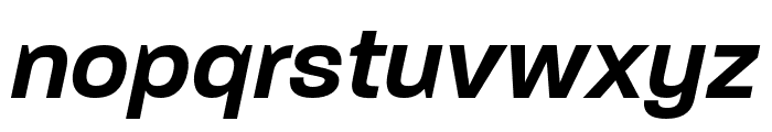 Paralucent Condensed Demi Bold It Font LOWERCASE