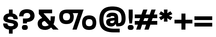 Paralucent Condensed Demi Bold Font OTHER CHARS