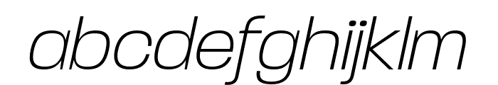 Paralucent Condensed Extra Light It Font LOWERCASE