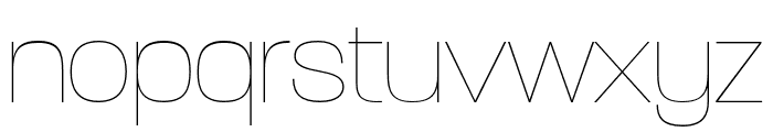 Paralucent Condensed Extra Light Font LOWERCASE