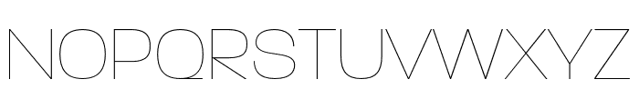 Paralucent Condensed Thin Font UPPERCASE
