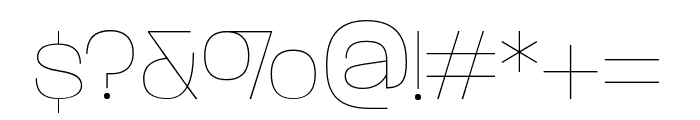 ParalucentStencil ExtraLight Font OTHER CHARS