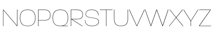 ParalucentStencil ExtraLight Font UPPERCASE