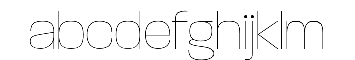 ParalucentStencil ExtraLight Font LOWERCASE