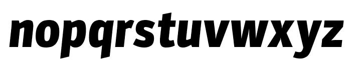 Parka Black Italic Font LOWERCASE