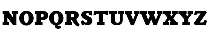Parkinson Black Font UPPERCASE